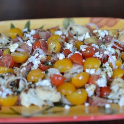 Healthy Cauliflower Salad with a Mustard Vinaigrette