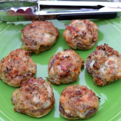 Bacon Cheddar Stuffed Mushrooms