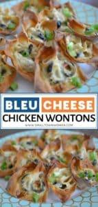 Blue Cheese Chicken Wontons