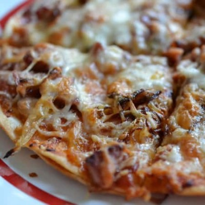 BBQ Sausage Onion Pizza