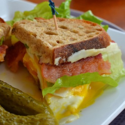 Egg Bacon Lettuce and Tomato Sandwiches