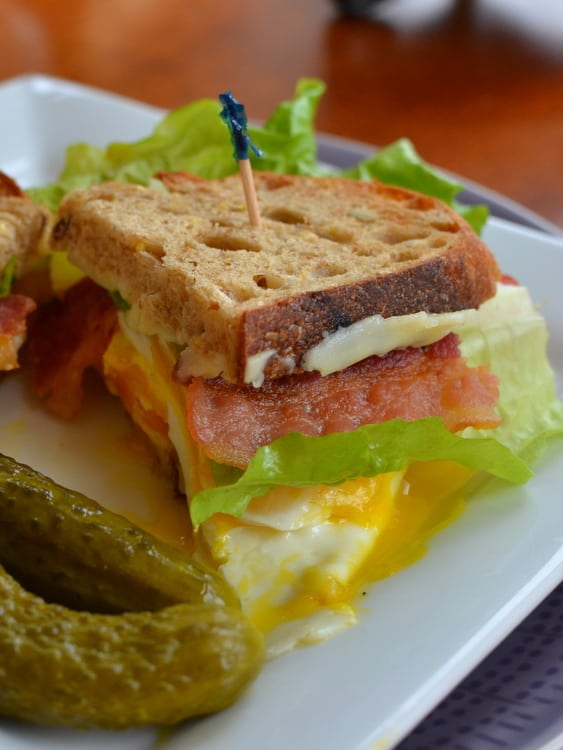 Egg Bacon Lettuce and Tomato Sandwiches | Small Town Woman