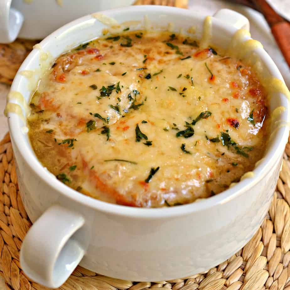French Onion Soup is the ultimate comfort soup and is so quick and easy to make.
