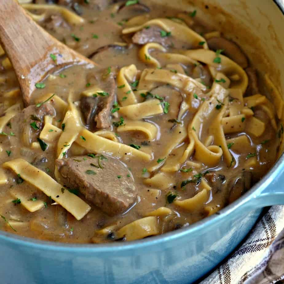This easy to make Beef Stroganoff Recipe is a family favorite comfort food meal.