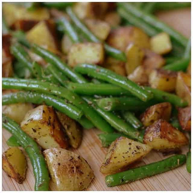 Pan Fried Potatoes and Green Bean goes with almost everythinghellip