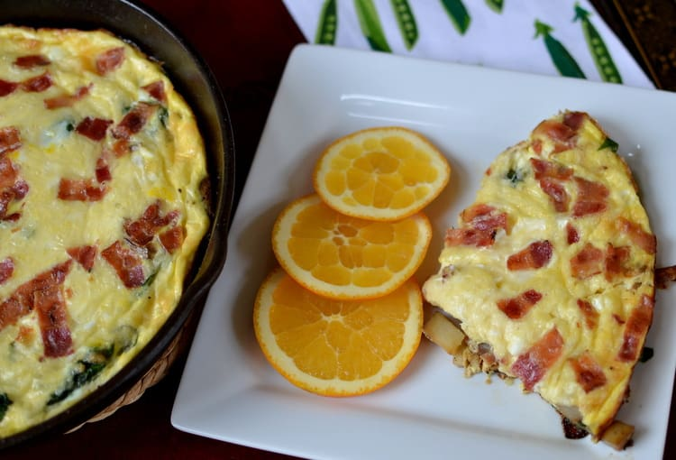 Frittata Lorraine is filled with all kinds of delicious treats. The ...