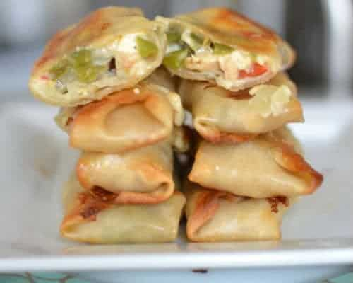 Pepper Jack & Chicken Egg Rolls 4