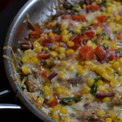Pulled Pork Queso Fundido