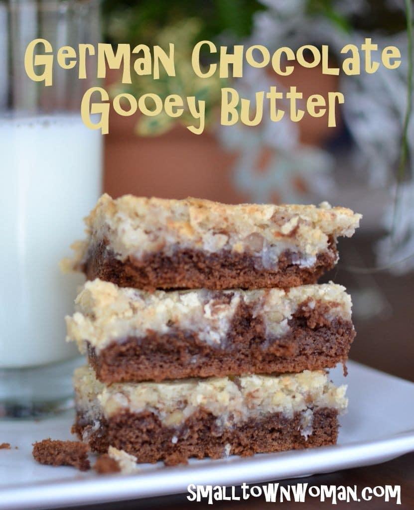 German Chocolate Gooey Butter