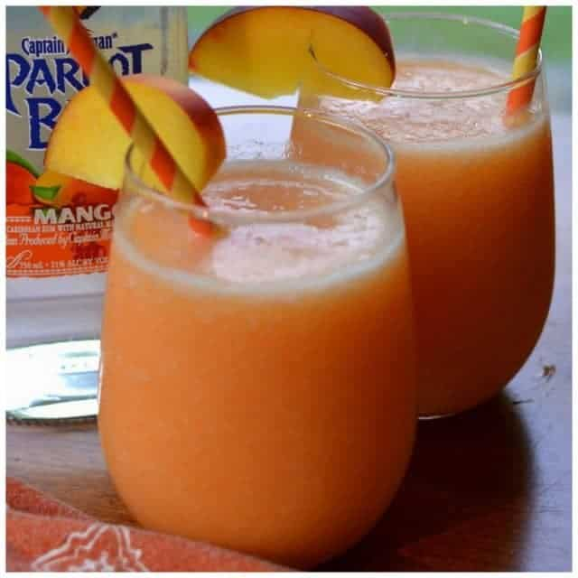 It is Friday! Peach Mango Daiquiris!! smalltownwomanfoodnut