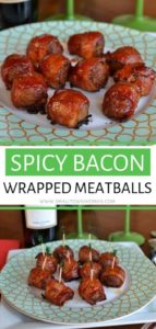 Spicy Bacon Wrapped Meatballs