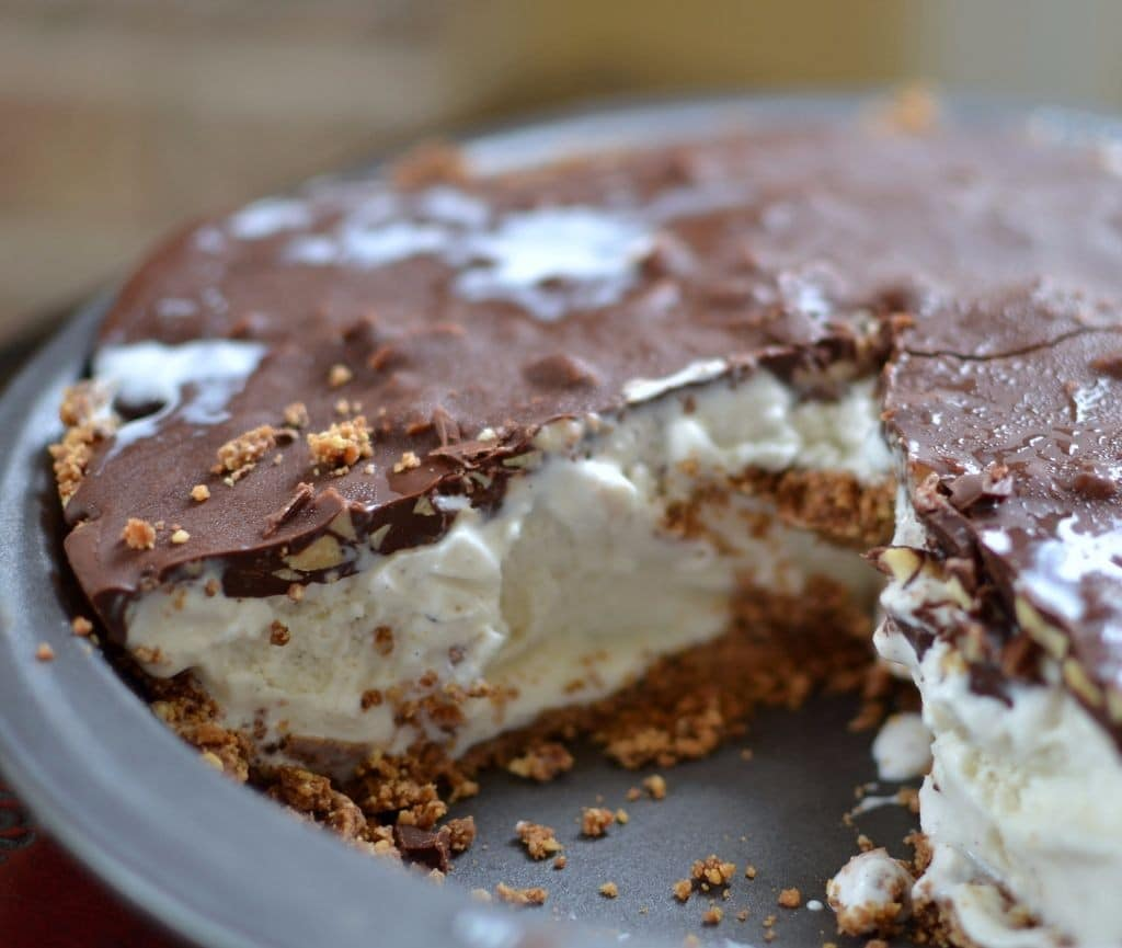 Luscious Drumstick Ice Cream Pie