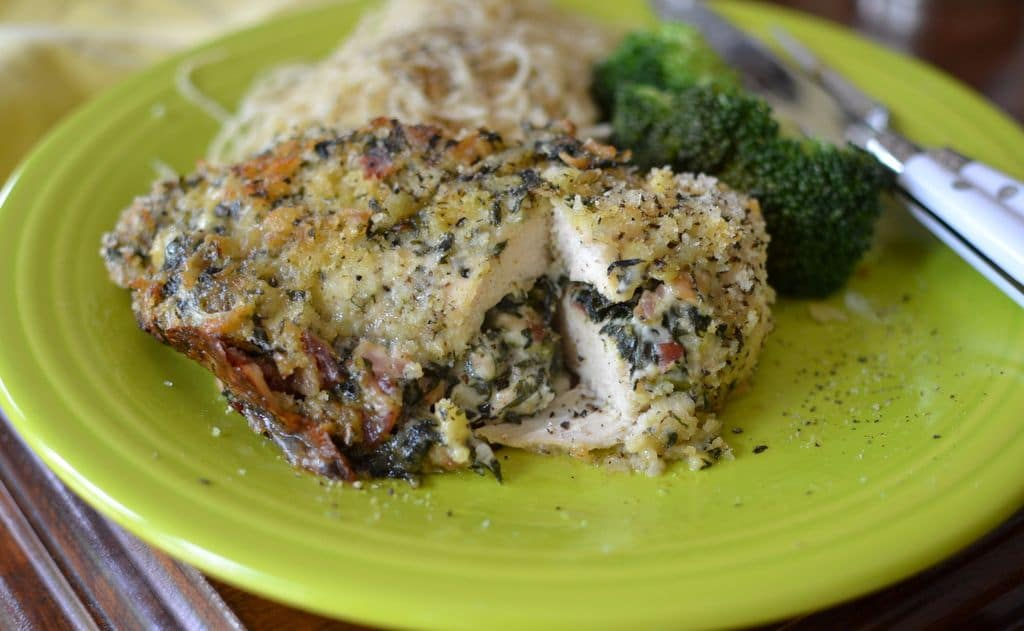 recipe: stuffed chicken breast with bacon and spinach [38]