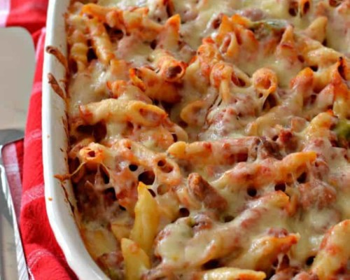 Easy Baked Mostaccioli