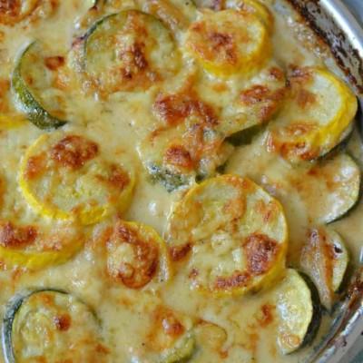 Zucchini Gratin with Yellow Squash
