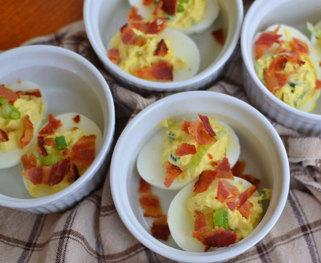 Bacon Horseradish Deviled Eggs (11)