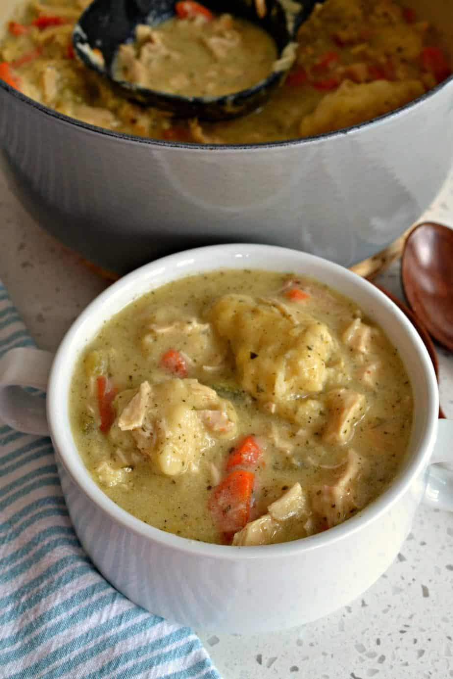 This Chicken and Dumpling Soup recipe will really satisfy your longing for a good home cooked meal.