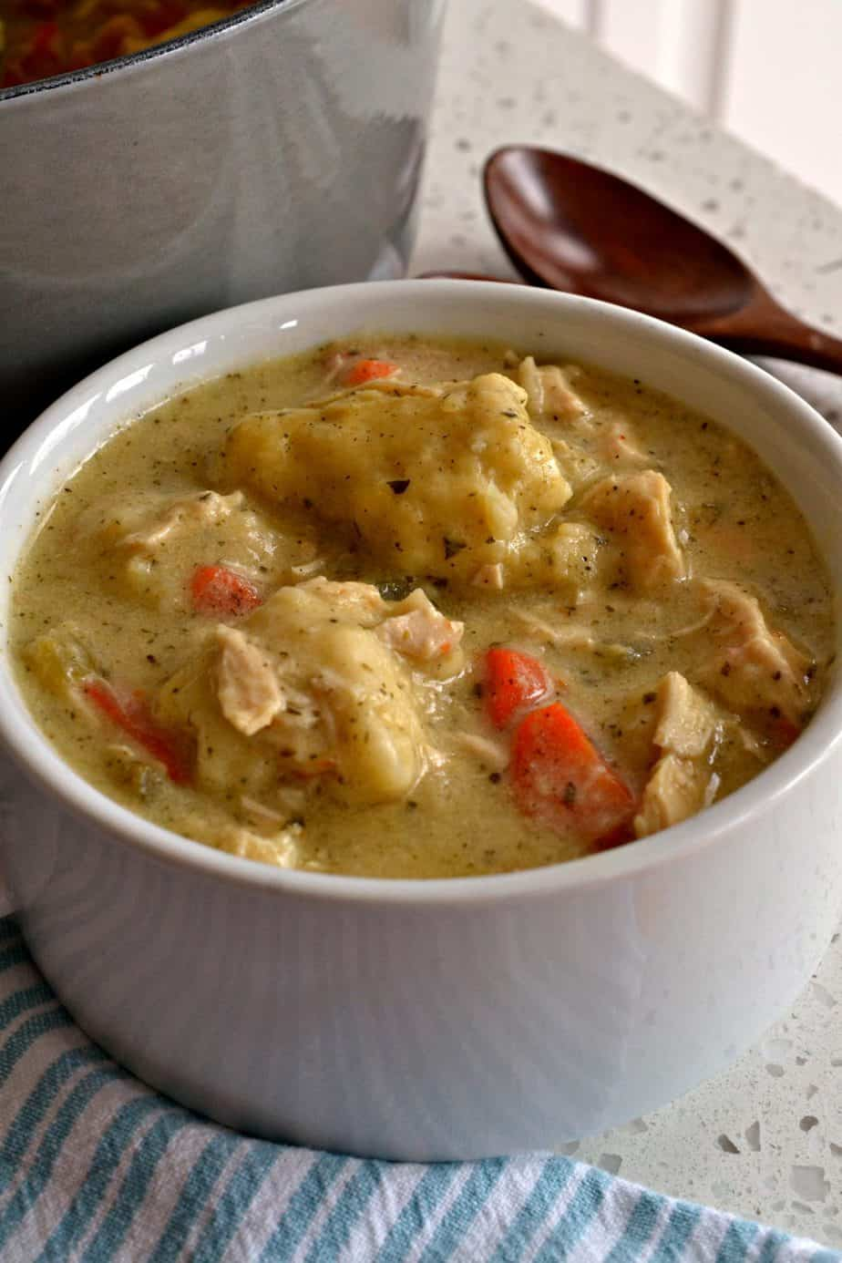 Chicken dumpling soup is the ultimate comfort soup with wholesome hearty goodness.