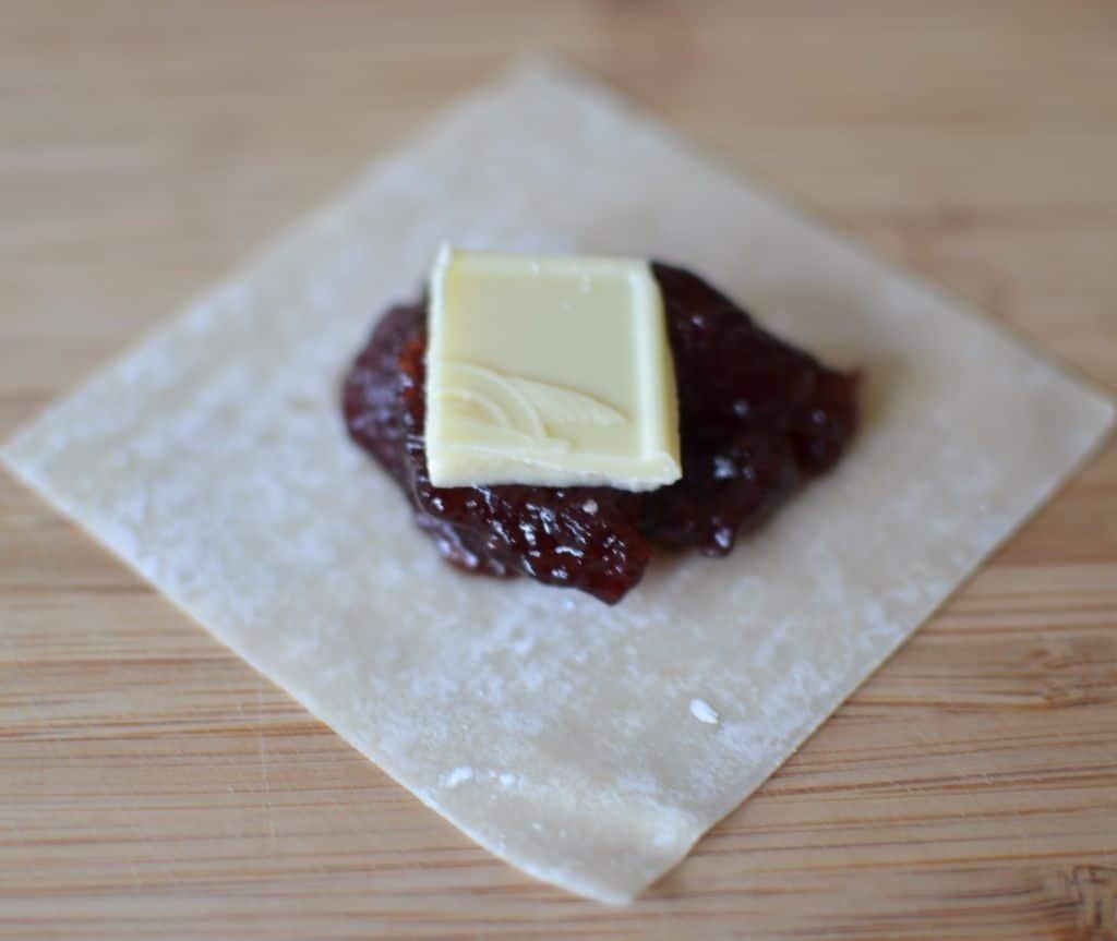 Jam White Chocolate Wonton Bites | Small Town Woman