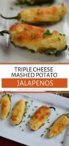 Mashed Potato Stuffed Jalapenos