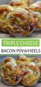 Triple Cheese & Bacon Pinwheels
