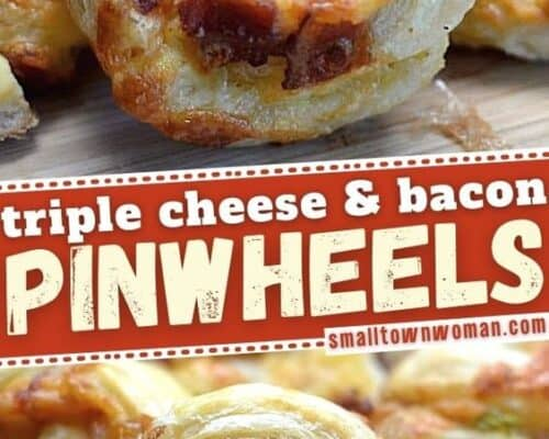 Triple Cheese and Bacon Pinwheels