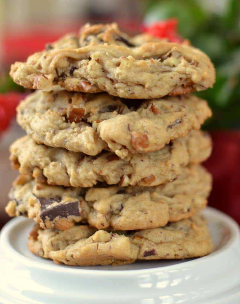 Thick Chocolate Chunk Pecan Cookies Small Town Woman