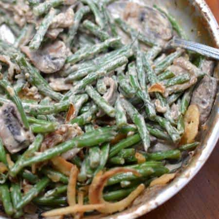 Skillet Green Beans with Mushrooms & French Fried Onions