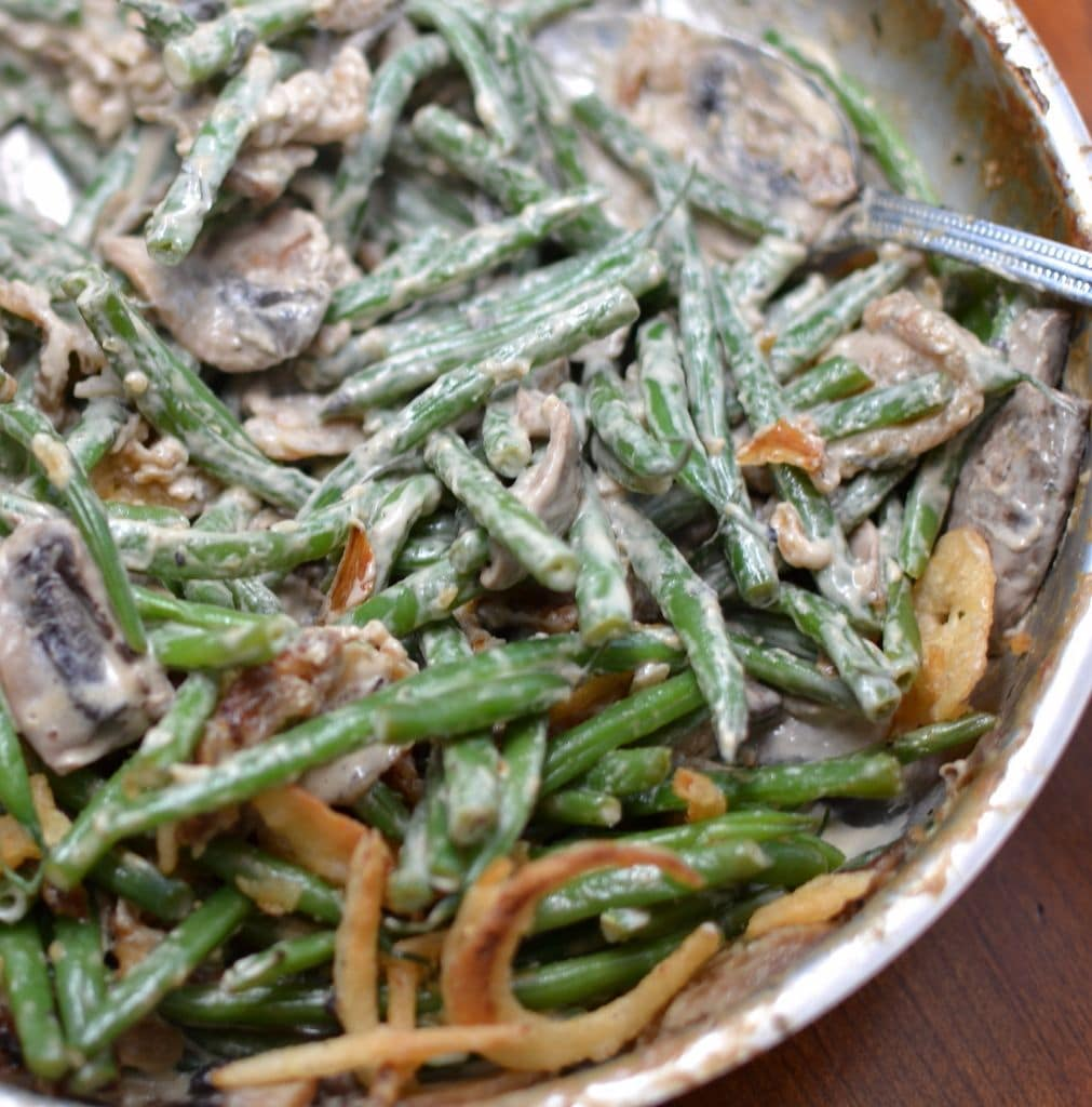 Skillet Green Beans with Mushrooms & French Fried Onions | Small Town ...