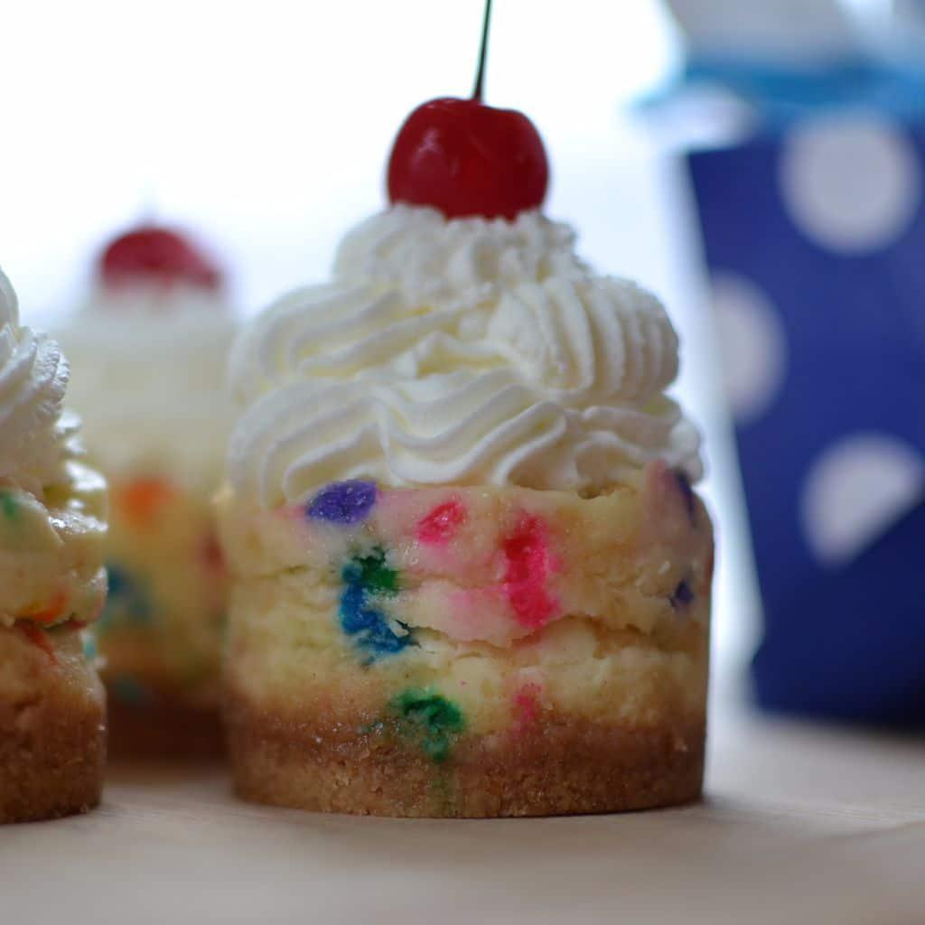 Mini Birthday Funfetti Cheesecakes Small Town Woman