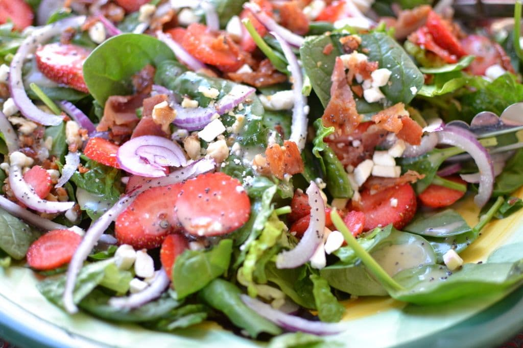 Now add a delicious sweet and tangy poppy seed dressing and you will ...