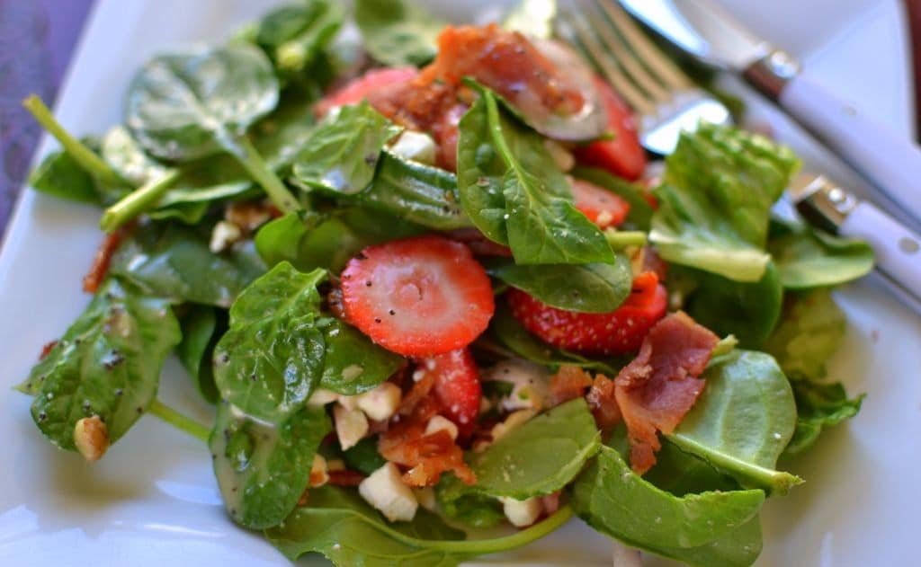 Strawberry Bacon Salad with Honey Poppy Seed Dressing | Small Town ...