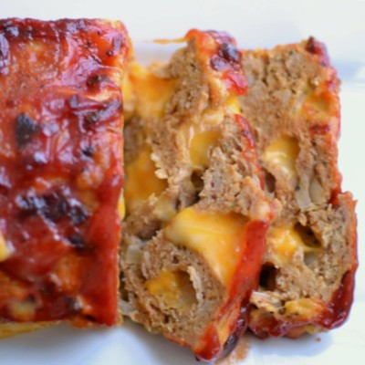 Colby Jack Meatloaf with Chipotle Ketchup