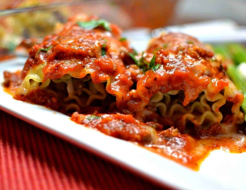 Meat Lasagna Roll Ups