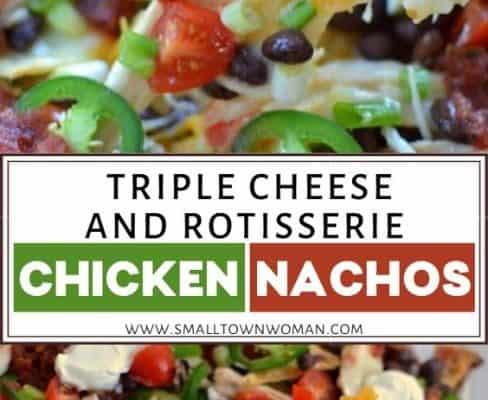 Triple Cheese and Rotisserie Chicken Nachos