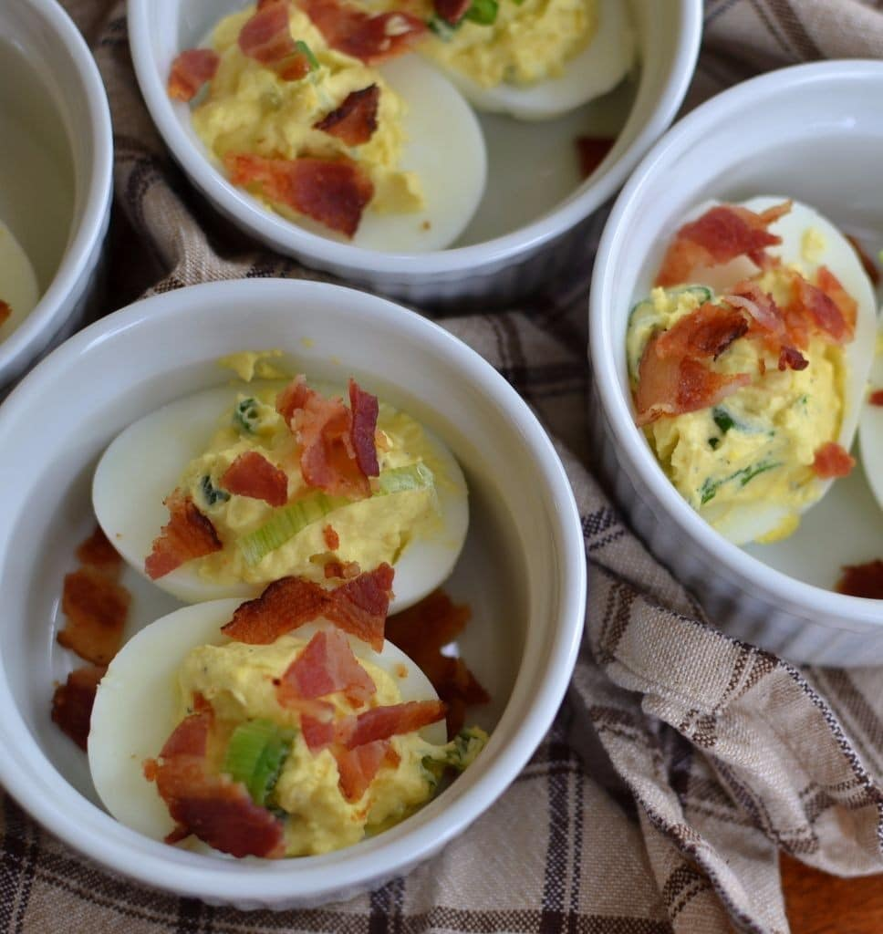 Bacon Horseradish Deviled Eggs (10)