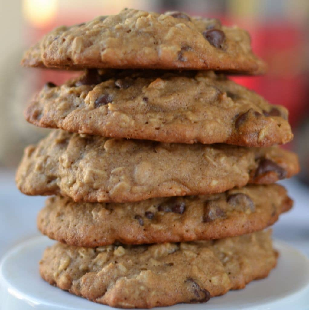 Banana Oatmeal Chocolate Chip Cookies (5)