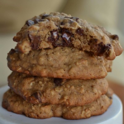 Banana Oatmeal Chocolate Chip Cookie