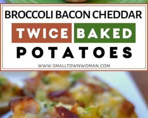 Broccoli Bacon Cheddar Twice Baked
