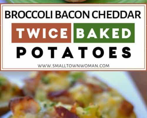 Broccoli Bacon Cheddar Twice Baked