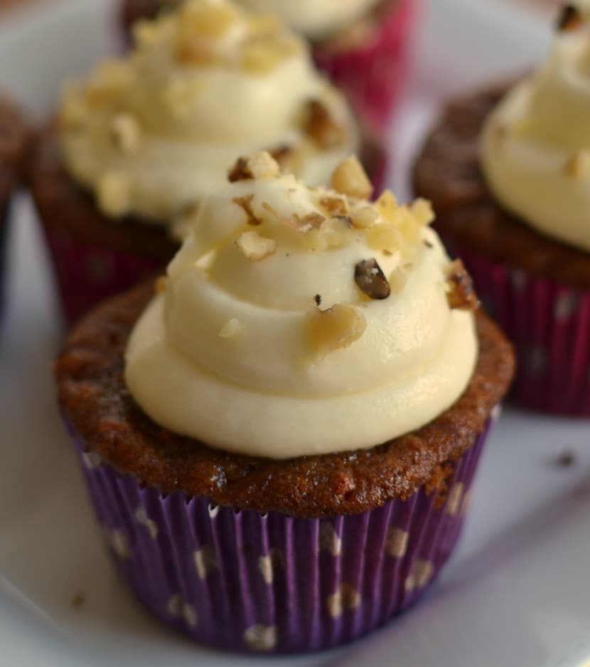 Carrot Cupcakes with White Chocolate Cream Cheese Frosting | Small ...