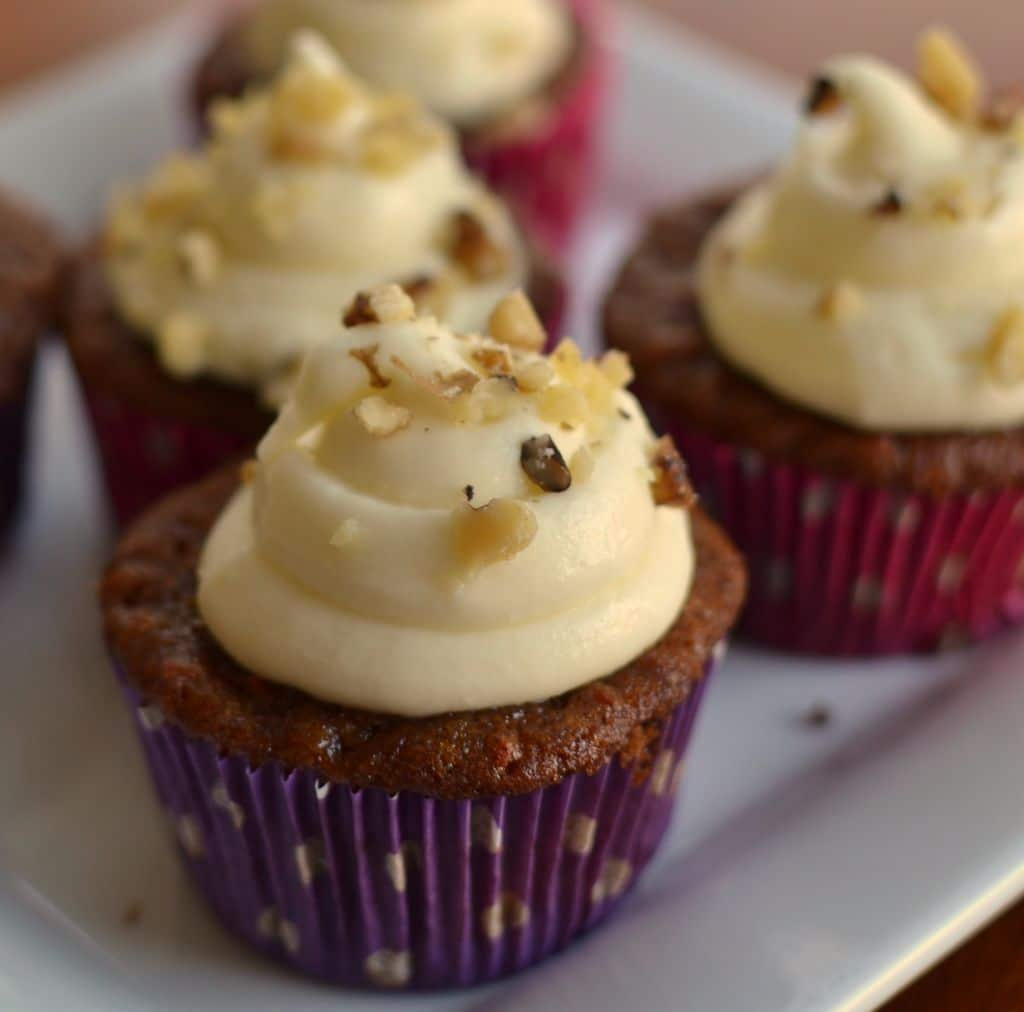 Carrot Cupcakes with White Chocolate Cream Cheese Frosting ...