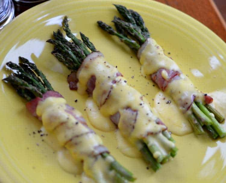 Bacon Wrapped Asparagus with Easy Hollandaise