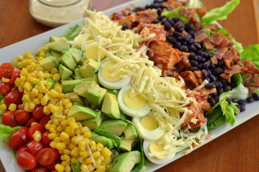 Barbecue Chicken Cobb Salad-001
