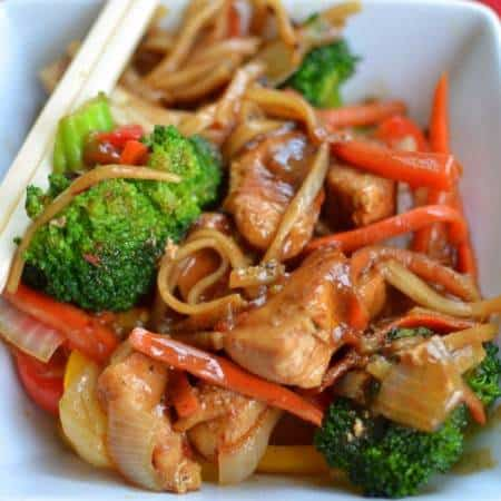 Chili Sauce Chicken Stir Fry