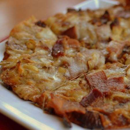Moores Honey BBQ Caramelized Onion Bacon Pizza