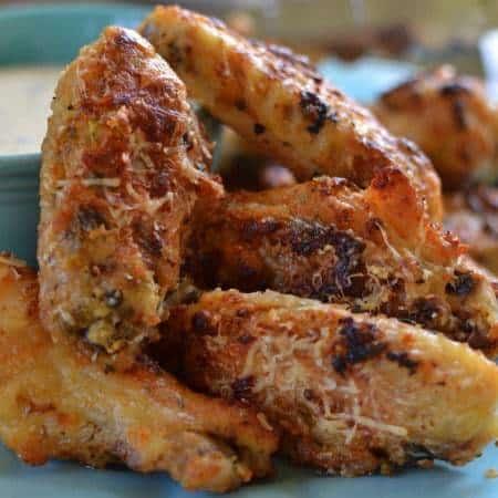 Parmesan Garlic Chicken Wings