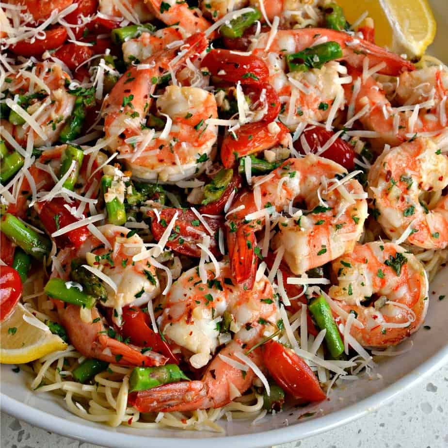 Shrimp Scampi is a simple and quick yet elegant shrimp dish with a lemon garlic butter wine sauce.