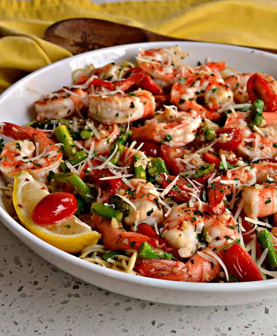 You are fifteen minutes away from a better than restaurant quality shrimp scampi