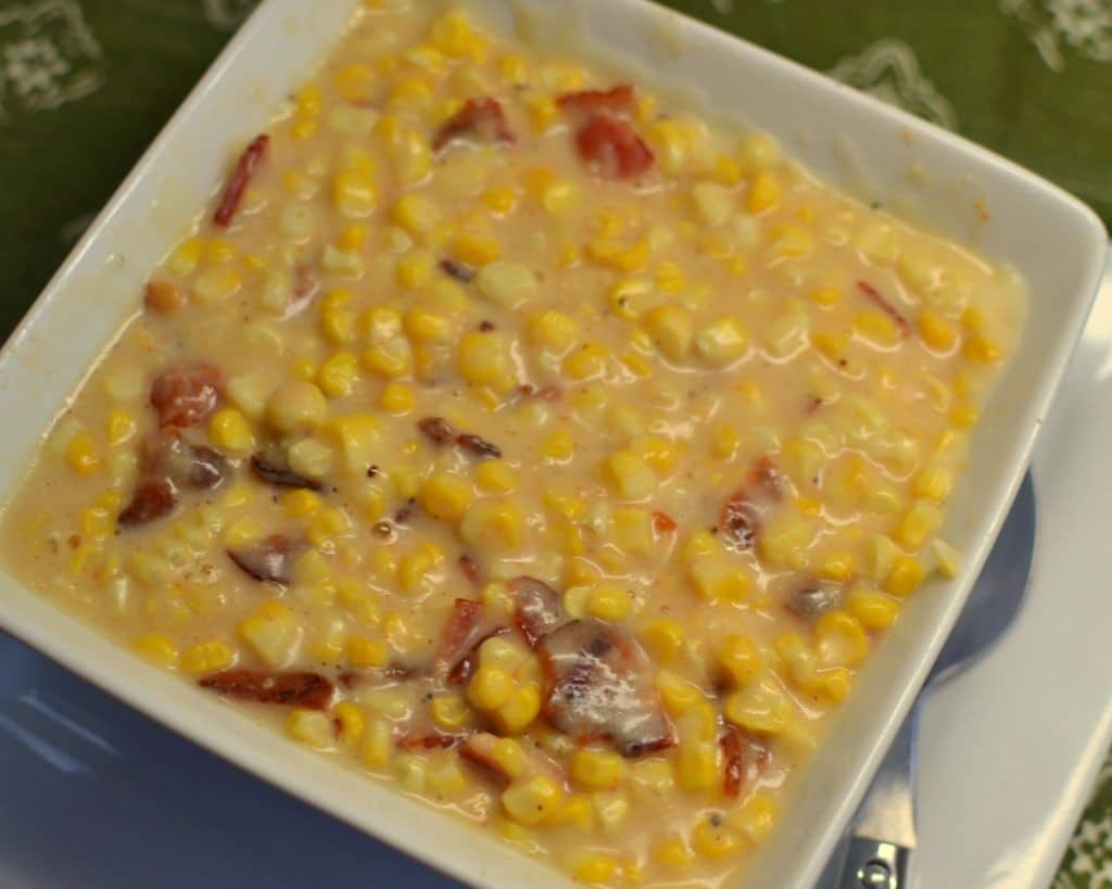 Sweet Creamed Bacon Corn | Small Town Woman
